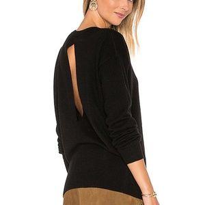 Vince 100% Cashmere Open-Back Sweater Sz S